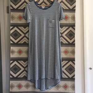 LuLaRoe Stripe Pocket Dress - Carly